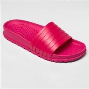 Hunter for Target Pink Slip On Rubber Sandals